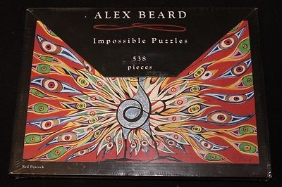 NEW Alex Beard 'Red Peacock' Impossible Puzzles 538 Pieces 25