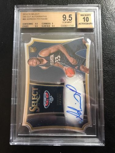2014 Select Die Cut Auto Adreian Payne RC 28/99 BGS 9.5 W/10 Gem Mint Rookie