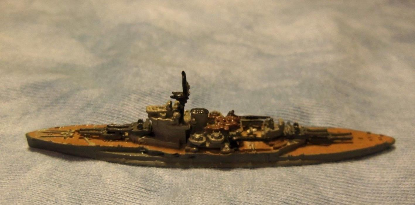 1/2400 scale Royal Navy WW1 WW2 Battleship H.M.S. Warspite  Painted