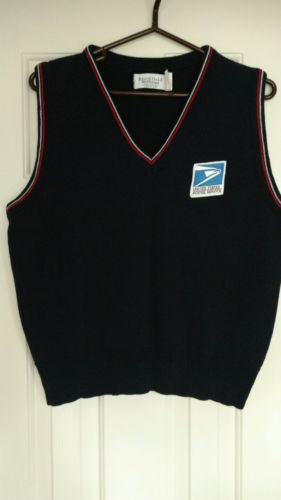 VINTAGE LADIES POSTAL CLERK UNIFORM SWEATER VEST SIZE L, PRE-OWNED