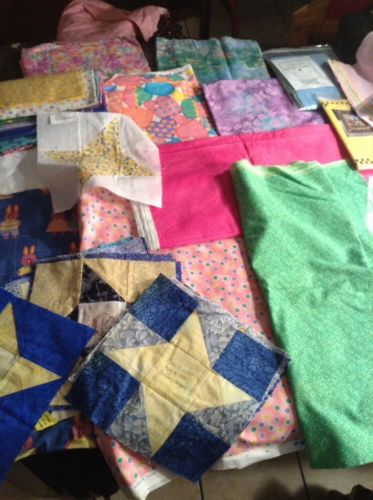 Fabric Grandmothers Quilting Collection Lot 81 Over 18 Yards Large Priority Box