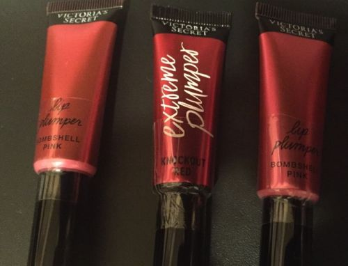 Victorias Secret Beauty Rush 3 Lip Plumpers In Pink And Red Sealed New