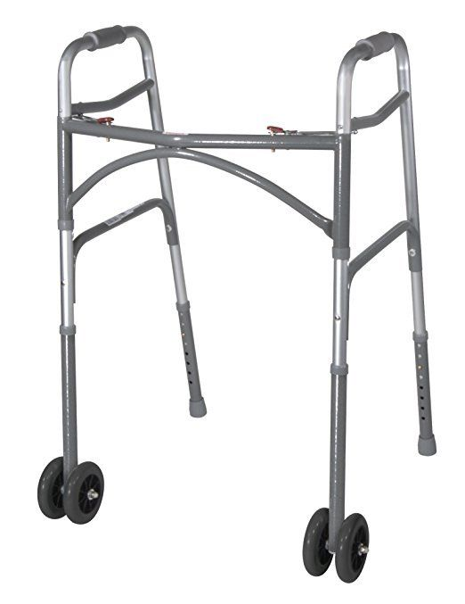 Drive Medical Heavy Duty Bariatric Walker Wheels with Extension Legs Gray 5 Inch