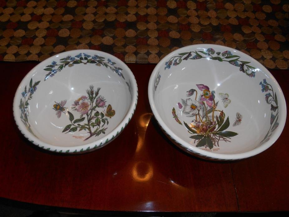 Pair of Portmeirion Botanic Garden Serving Bowls - 10 1/4