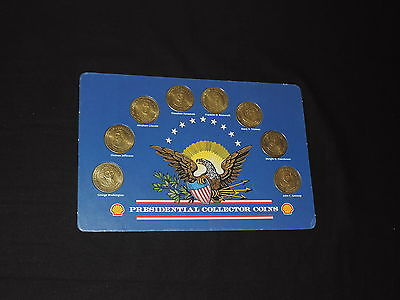 Shell Oil Presidential Collector Coins Washington, Lincoln, Kennedy,Roosevelt