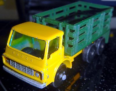 Nice Used Condition Vintage Lesney Matchbox Series #4 Yellow Stake Bed Truck UK