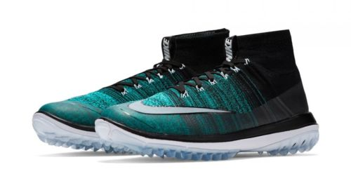 Nike Flyknit Elite Golf Shoes, Black Hyper Jade, Mens Size 8.5
