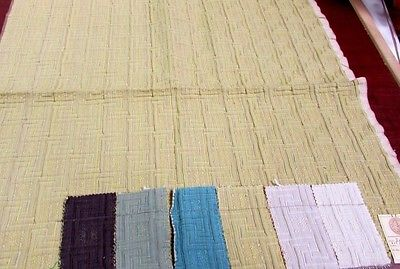 Vintage PS Saffron Heavy Upholstery Fabric Sample Remnant, 27' X 26