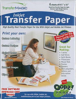 Ink Jet Transfer Paper 8.5