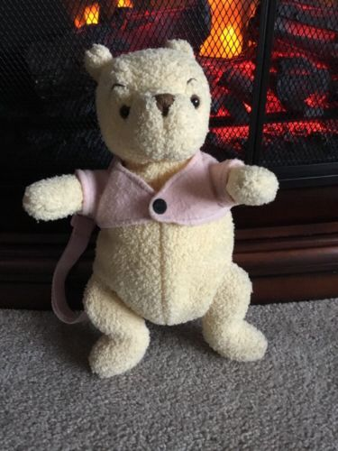 Vintage Disney Classic Winnie the Pooh Bear Sm Plush Stuffed Backpack 12