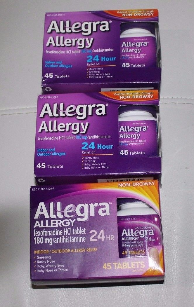 Allegra Allergy Tablets 3 x 45= 135 SEALED Non-Drowsy NEW EXP 2018/2019
