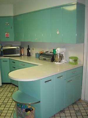 Metal Kitchen Cabinets - 24 Vintage 1959 GE cabinets - all original color