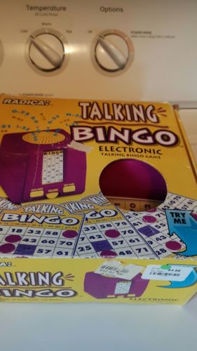 Radica Talking Bingo Electronic Game Cards #1111GBBA Tested Works Box