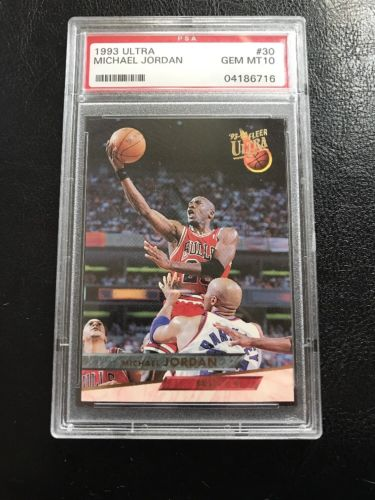 1993 Ultra #30 Michael Jordan PSA 10 Gem Mint Bulls