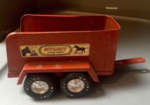 Nylint Horse Ranch Metal Trailer Vintage