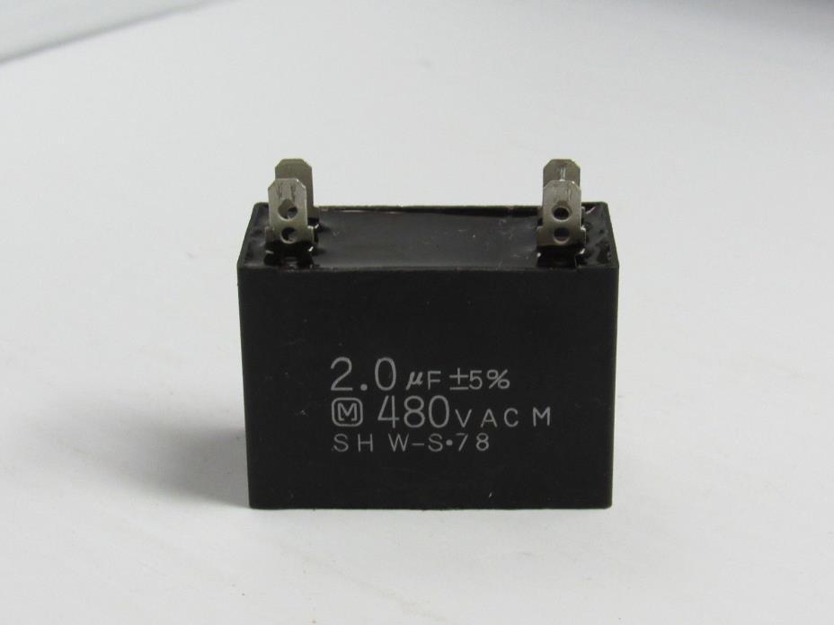 MATSUURA CAPACITOR SHW-S 78 SHWS78 2.0UF±5% 480VAC - USED