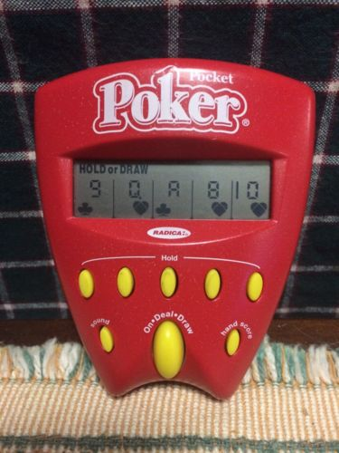 Radica Electronic Handheld Pocket Poker 2002 *excellent*