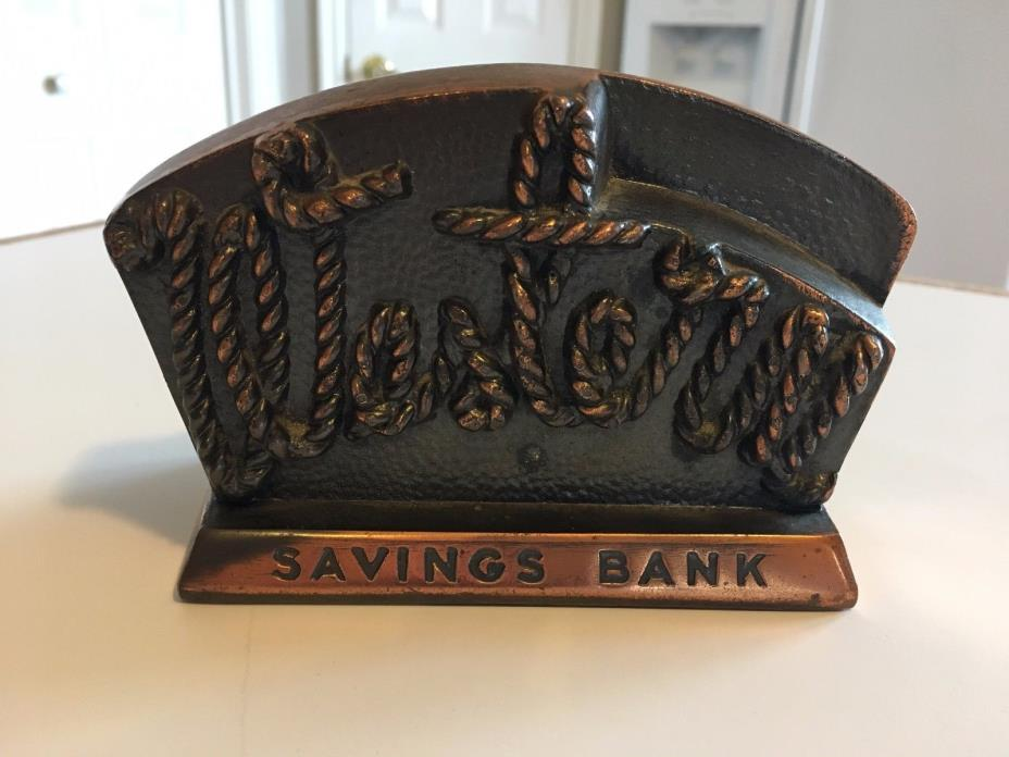 Vintage Bronze Colored Western Savings Bank/Paperweight-3 x 4 1/2 inches