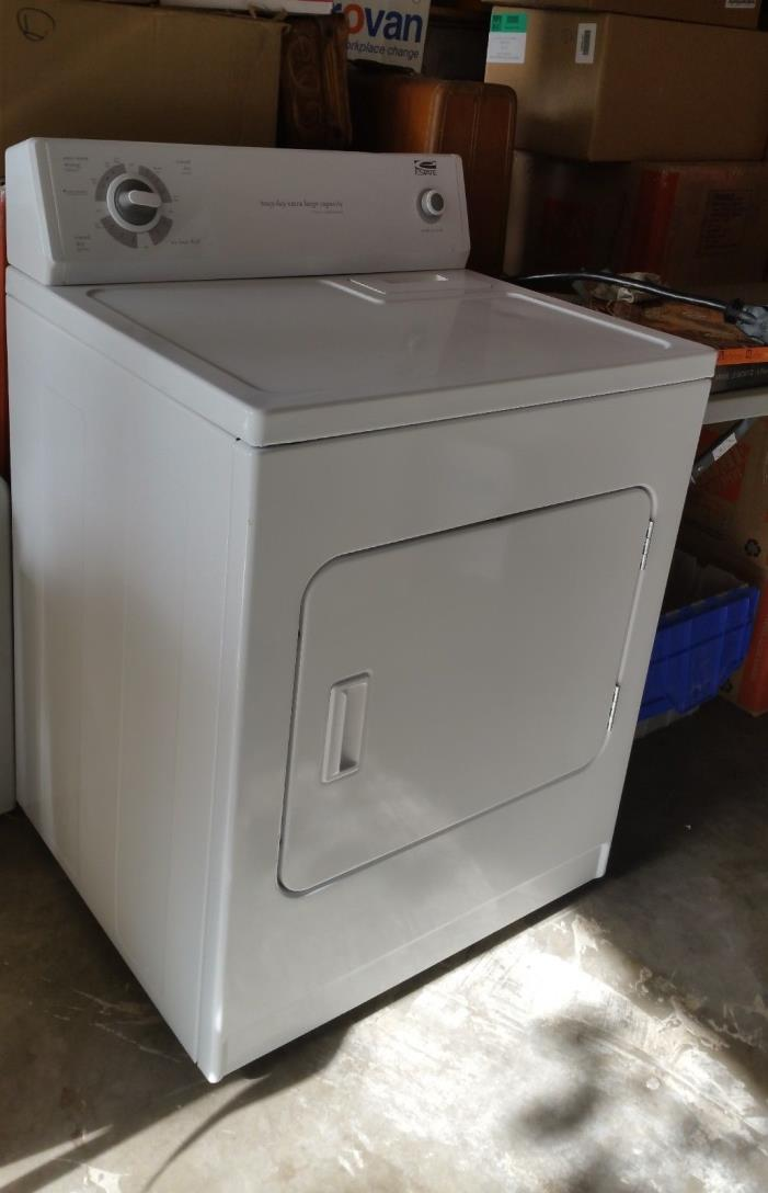 Dryer White, Whirlpool Estate, Excellent Condition, Electric