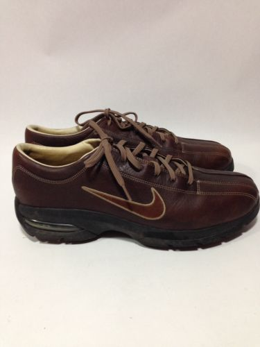 Nike Sport Performance, Men's 11, Brown Leather Golf Shoes