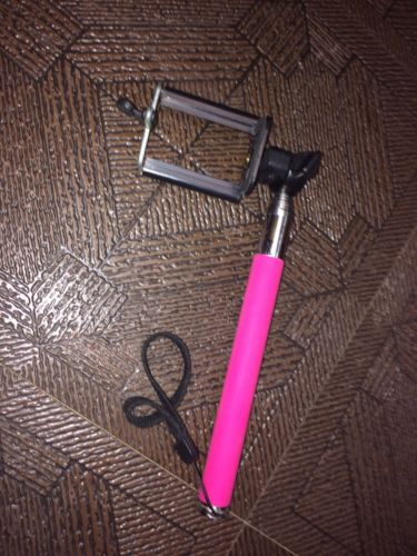 Pink Selfe Stick Camera Smart Phone Extender Photo Picture iPhone Android