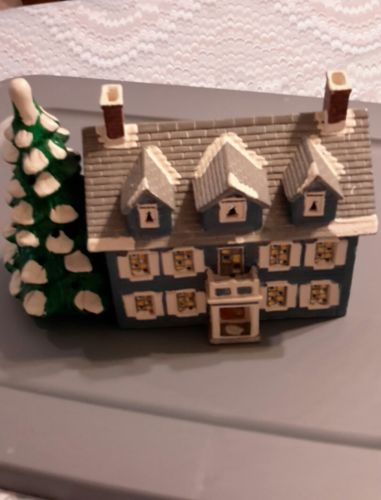 dept 56 christmas village house 1986 williamsburg light holes in it