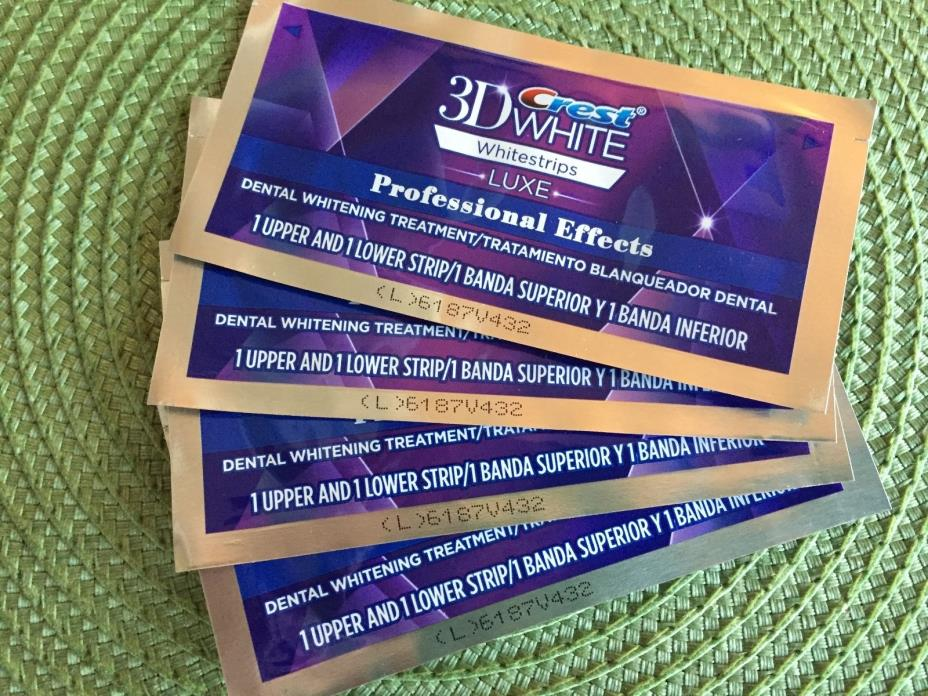 Crest 3D White Luxe Professional Effects White Strips, 4 Pouches
