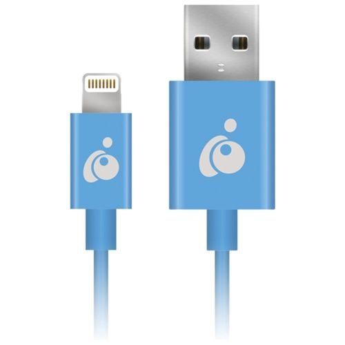 Iogear Charge & Sync Flip Lightning To Reversible Easy-Grip USB Cable 3.3ft Blue