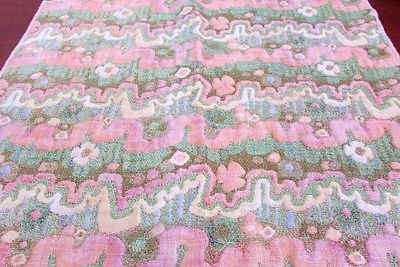 Vintage Upholstery Textured Fabric Sample Remnant, 25' X 23