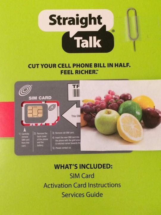 Straight Talk Micro SIM Card & Activation Kit (AT&T)