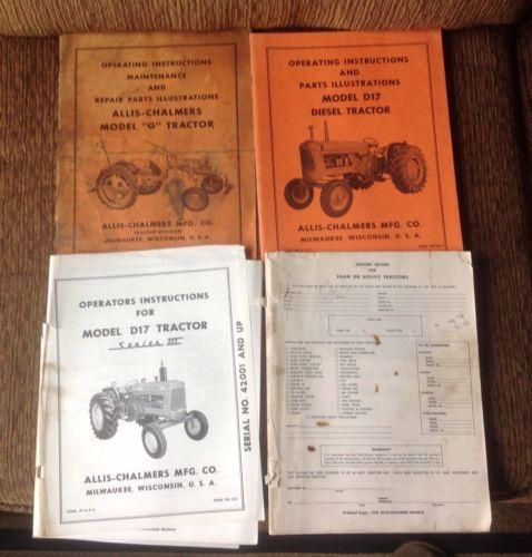 Allis Chalmers Tractor Manuals