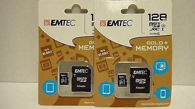 EMTEC 128 GB Micro SD card GOLD Class 10 85mb/s