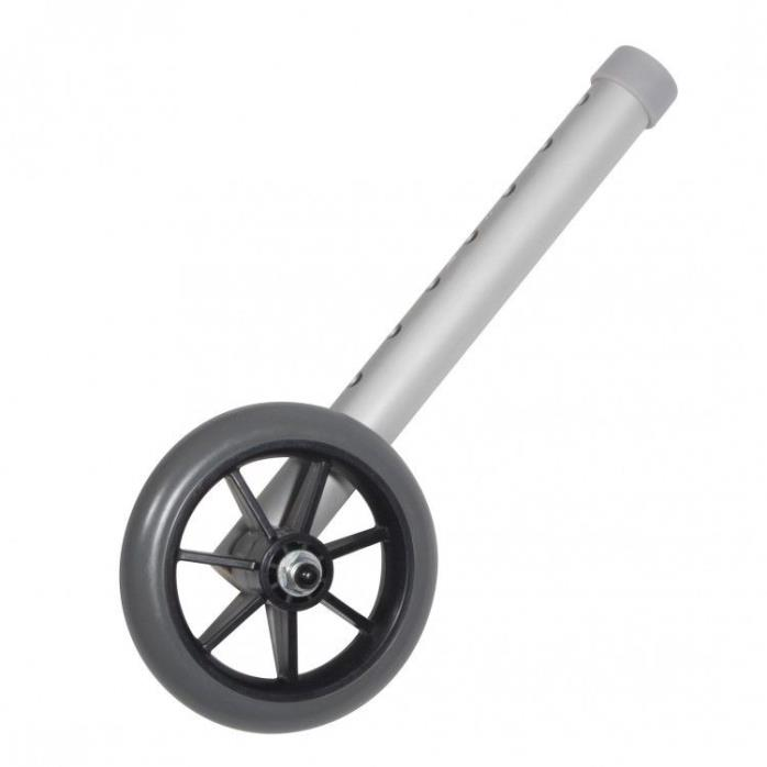 Replacement Wheels For Walker Universal 5 Inch Converts Folding Into Wheeled