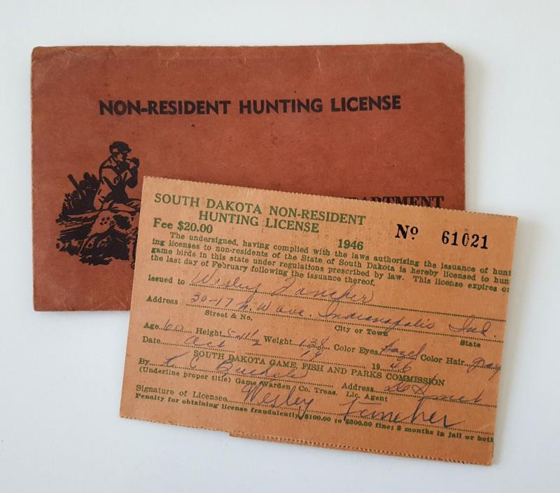 Vintage fishing license for sale classifieds for Sd fishing license