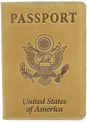 Shvigel Leather Passport Cover-Holder-for Men & Women-Passport Case Light Yellow