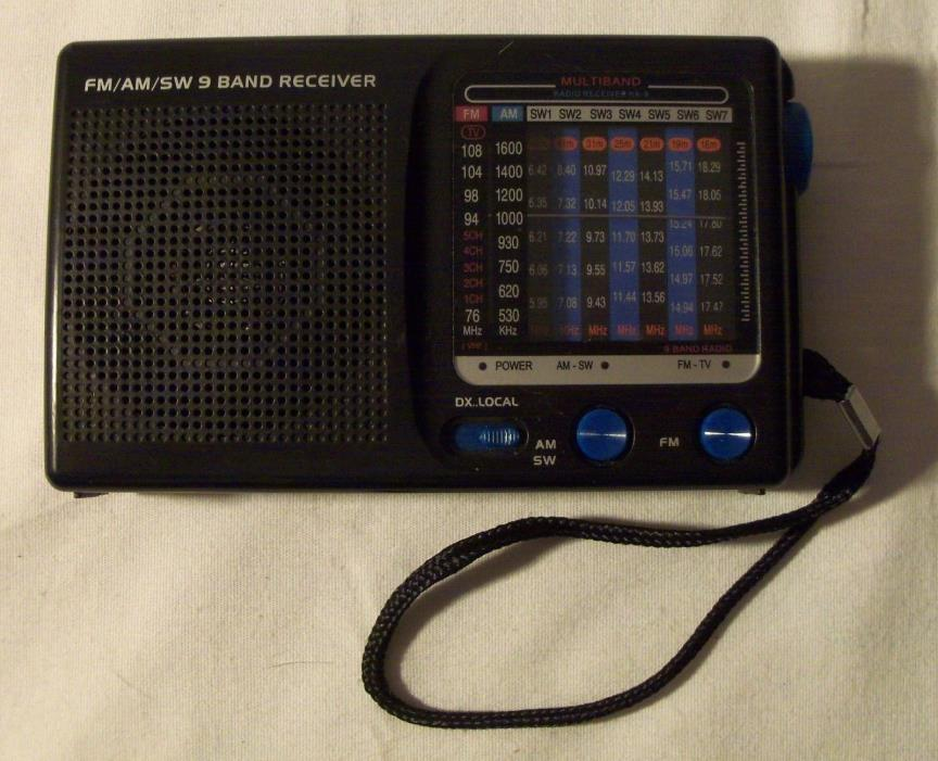 FM/AM/SW 9 Band receiver