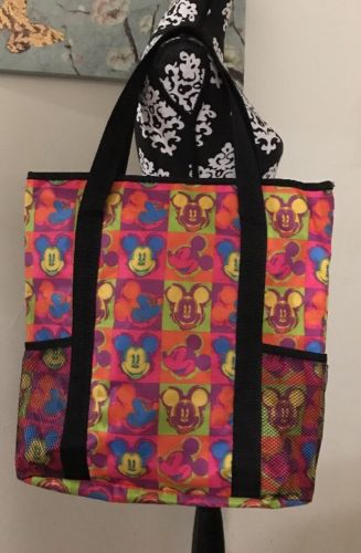 Mickey Mouse Large Nylon Tote Bag Multicolor