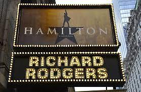 TWO Hamilton Tickets Richard Rogers Theatre NYC Friday 1/5/2018 Front Mezz Row A
