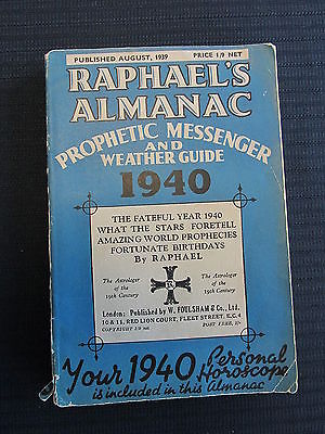 Raphael's Almanac 1940 Prophetic Messenger and Weather Guide