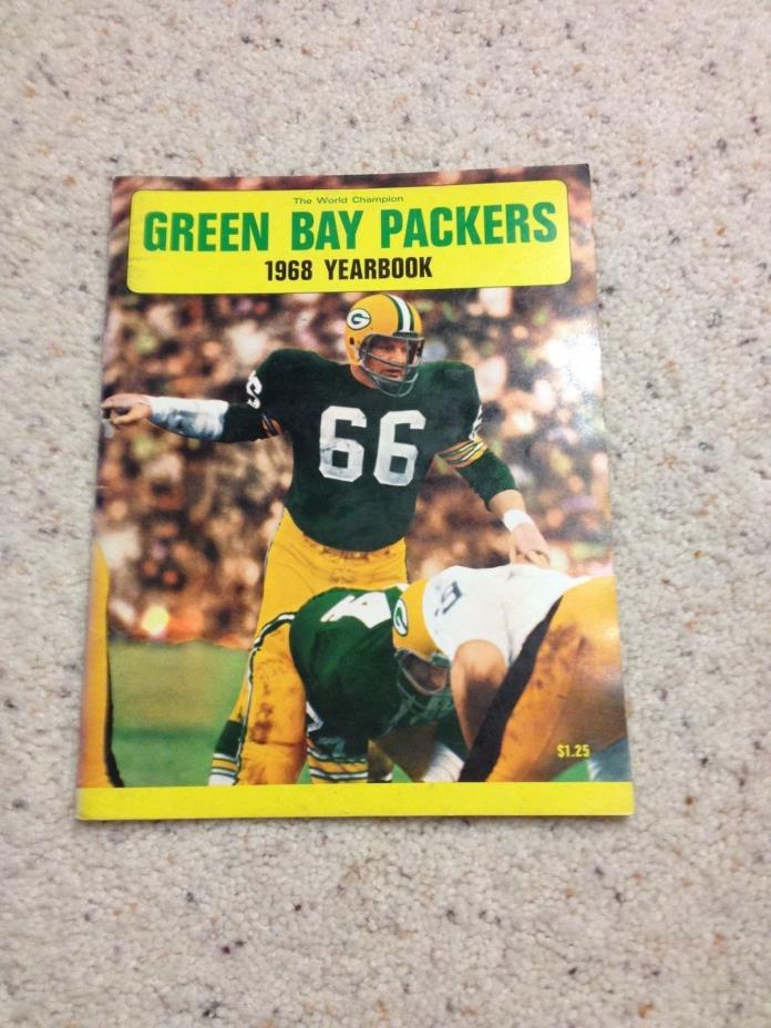 1968 GREEN BAY PACKERS YEARBOOK