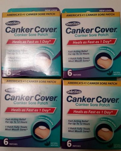 Den tek canker cover (4) packages of 6 patches 24 patches total free shipping