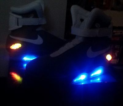 Nike Mag Back to The Future 2 Shoes Rare Collectible Prop Movie custom size 12