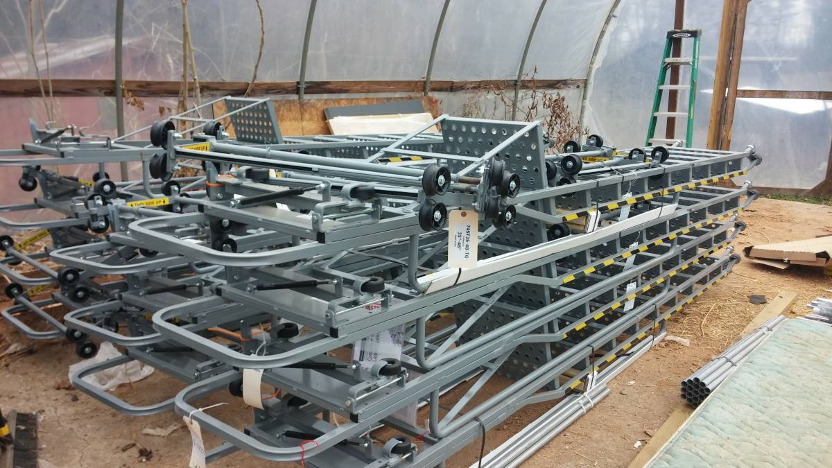 Cotterman Ladder 7400 Series With Track For 10 Foot Rack