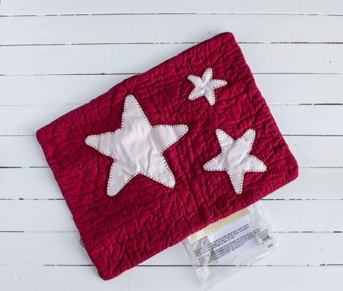 Pottery Barn Kids Quilted Star Lumbar Sham Pillow Red
