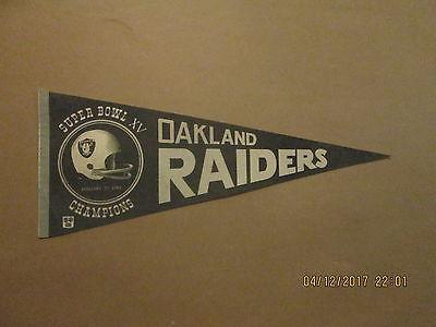 NFL Oakland Raiders Vintage Circa 1981 SUPER BOWL XV CHAMPIONS Football Pennant