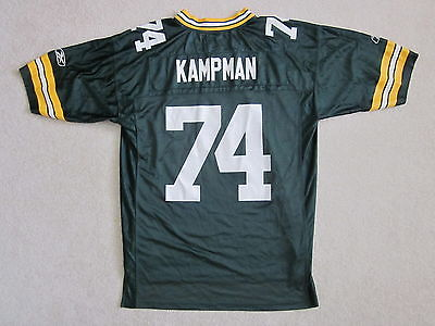 Vintage GREEN BAY PACKERS Aaron Kampman 74 Football Jersey Reebok ON FIELD Large