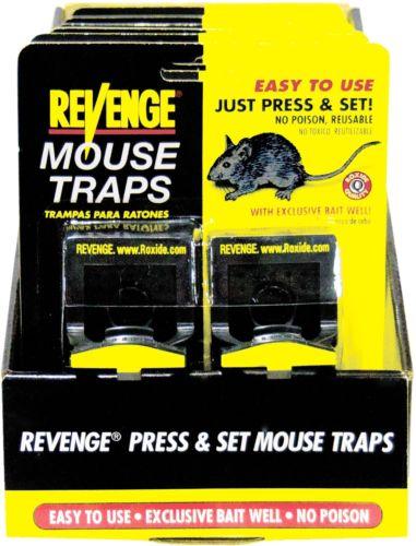 Bonide 47080 Revenge Press & Set Traps For Mice - PK 12