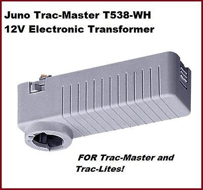 JUNO T538WH TRAC-MASTER 12V Low-VOLTAGE ELECTRONIC TRANSFORMER-White-NIB