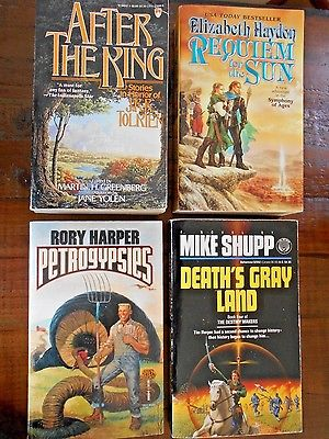 Science Fiction, Lot of 4 PB Books Elizabeth Haydon, After the King, Greenberg..