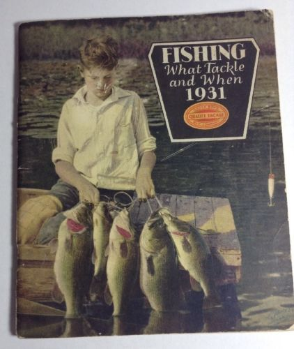Vintage Early SOUTH BEND 1931 Fishing Tackle Catalog